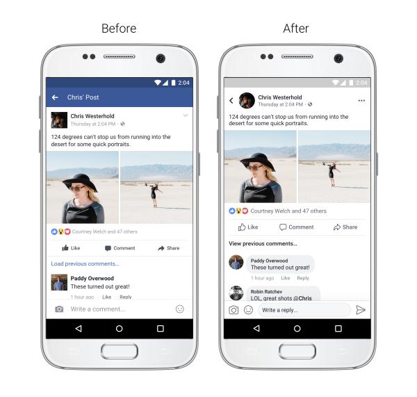 Facebook - Novità navigazione