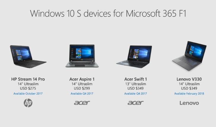 PC con Windows 10 S
