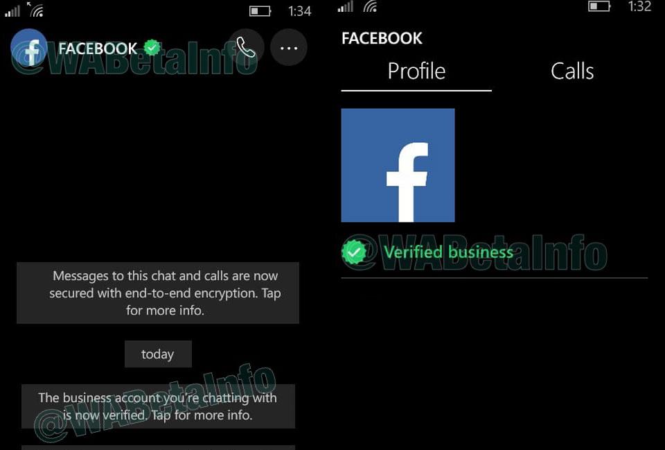 WhatsApp - Account Verificati