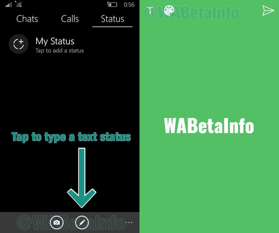 WhatsApp - Stati testuali