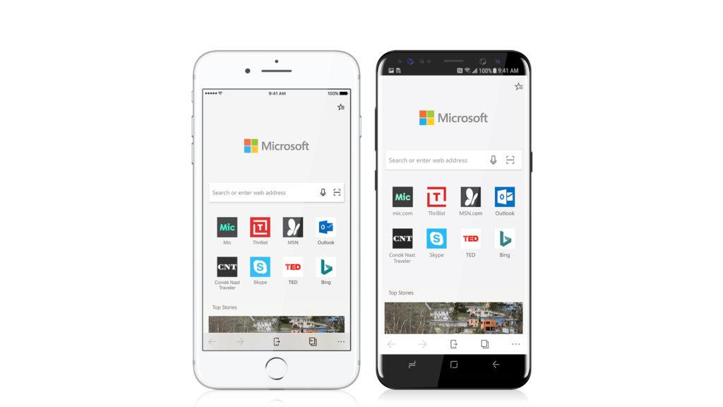 Microsoft Edge per iOS e Android