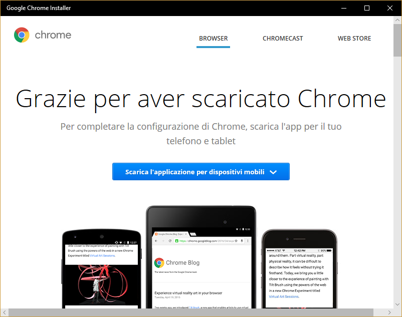 Sorpresa: Google pubblica il Chrome Installer nel Microsoft Store
