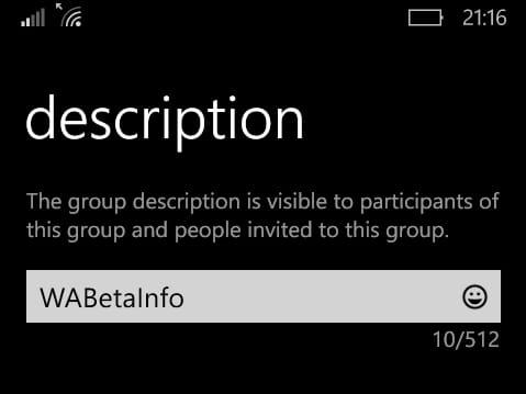 Descrizione Chat Gruppo