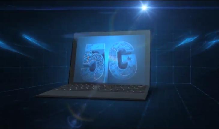 Concept di PC con modem 5G Intel