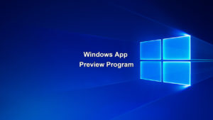 Windows App Preview Program