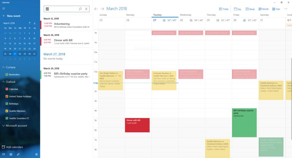 Ricerca Calendario