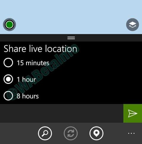 Condivisione live posizione