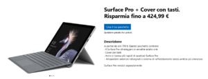 Surface Pro + Cover con tasti