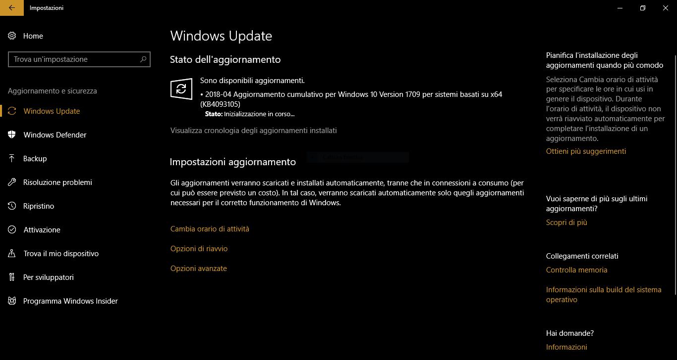 Windows 10 April 2018 Update data di rilascio