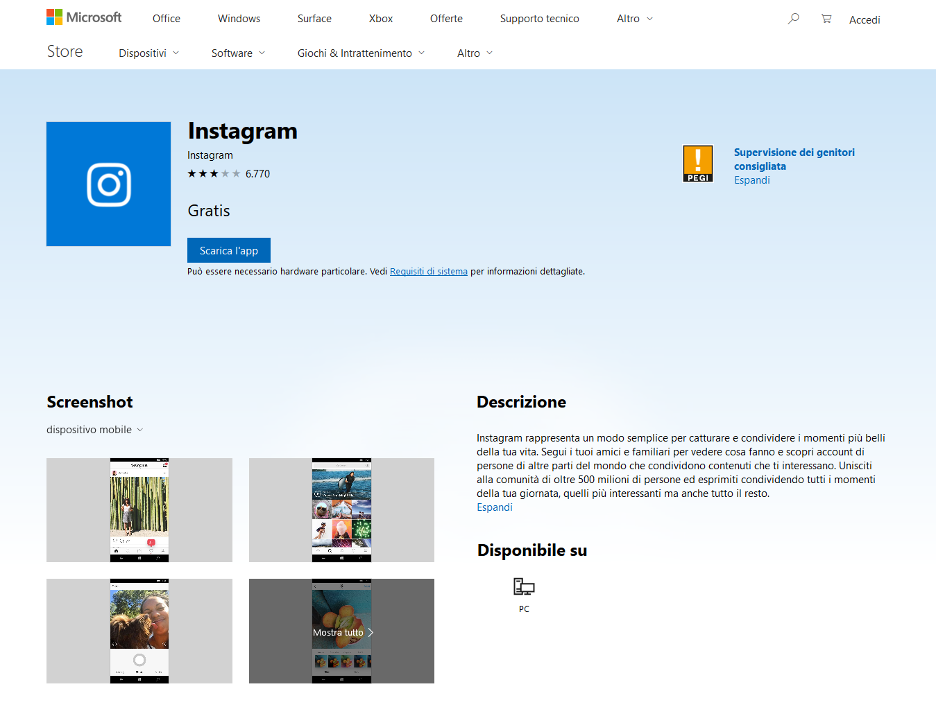 Instagram abbandona definitivamente Windows 10 Mobile