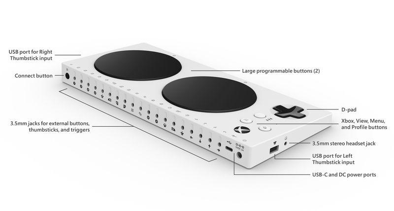 Microsoft ha presentato l'Xbox Adaptive Controller, pensato per le persone disabili