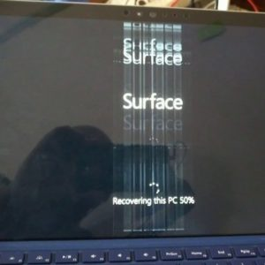 Surface Pro 4 con sfarfallio
