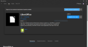 LibreOffice su MS Store