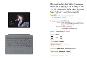 Surface Pro su Amazon