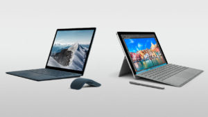 Surface Laptop e Surface Pro 4