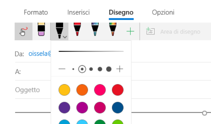 Input penna in Posta e Calendario