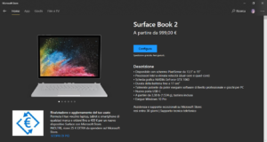Surface Book 2 su Microsoft Store