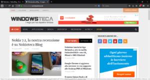 Firefox v63 - Tema scuro