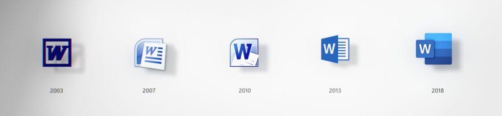Evoluzione Icone Word