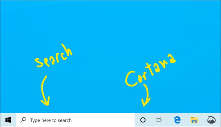 Cortana e Cerca separati