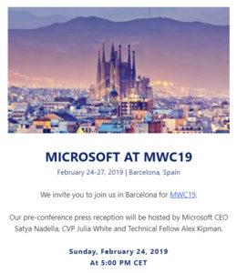 Microsoft al MWC 2019