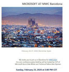 Microsoft - MWC 2020