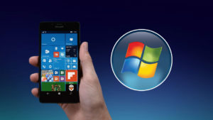 Windows 10 Mobile e Windows 7