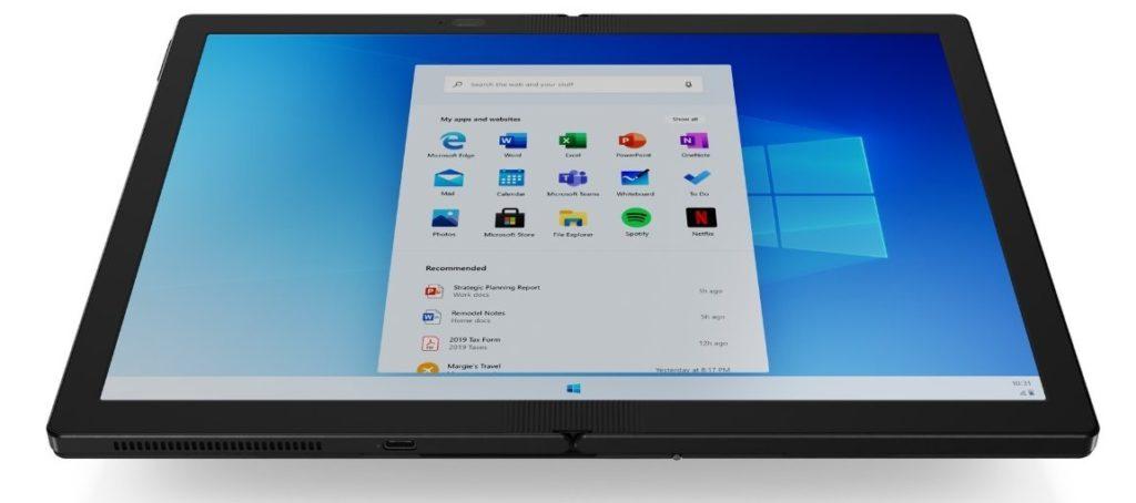 Windows 10X - Start Menu
