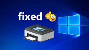 Windows 10 problema di stampa risolto